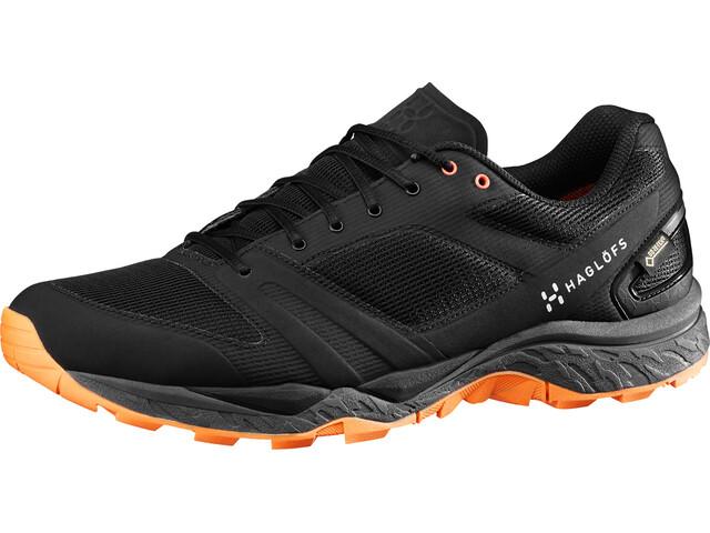 Haglöfs M's Gram Gravel GT Shoes TRUE BLACK/TANGERINE